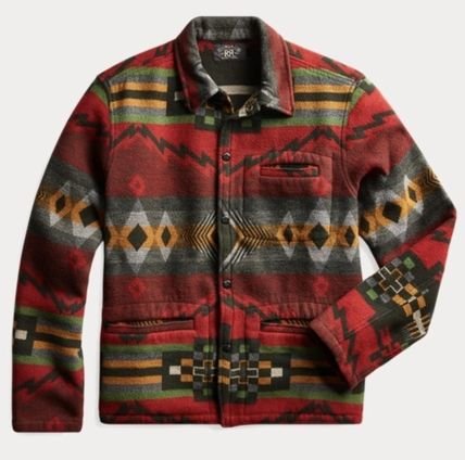 Wool Street Style Long Sleeves Cotton Tribal Surf Style