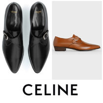 CELINE Plain Leather Oxfords