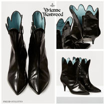 Vivienne Westwood Blended Fabrics Plain Leather Pin Heels Party Style