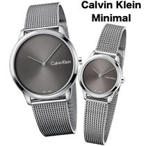 Calvin Klein Casual Style Unisex Street Style Round Party Style