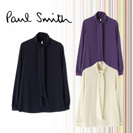 Casual Style Long Sleeves Plain Medium Party Style