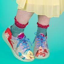 Irregular Choice Blended Fabrics Collaboration Glitter Low-Top Sneakers
