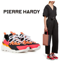Pierre Hardy Casual Style Chunky Heels Low-Top Sneakers