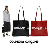 COMME des GARCONS Casual Style Unisex Leather Totes