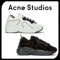 Acne Round Toe Rubber Sole Casual Style Unisex Suede Street Style
