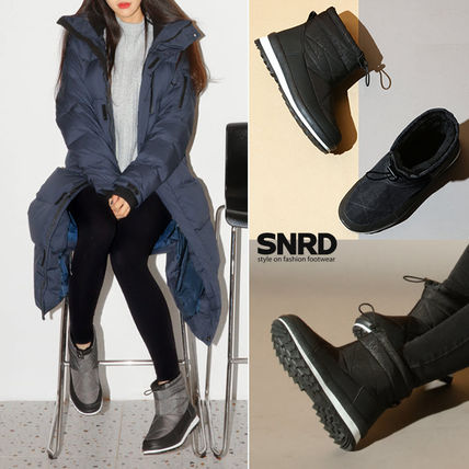 paperplanes Mountain Boots Round Toe Rubber Sole Casual Style Plain