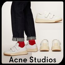 Acne Round Toe Rubber Sole Casual Style Unisex Street Style Plain