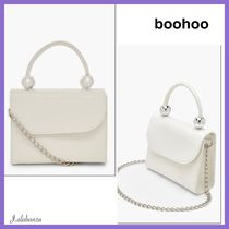 boohoo Casual Style 2WAY Plain Party Style Shoulder Bags