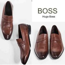 Hugo Boss Loafers Street Style Plain Leather Loafers & Slip-ons