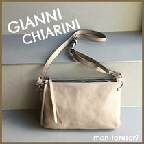 GIANNI CHIARINI Casual Style 2WAY Plain Leather Elegant Style Shoulder Bags