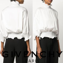 GIVENCHY Cropped Plain Shirts & Blouses