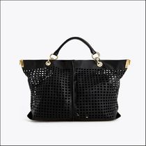 Uterque Casual Style Bag in Bag 2WAY Plain Leather Elegant Style