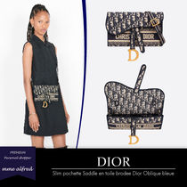 Christian Dior DIOR OBLIQUE Casual Style Canvas 2WAY Elegant Style Shoulder Bags