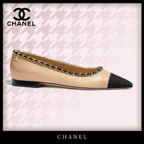 CHANEL Casual Style Bi-color Chain Plain Leather Party Style