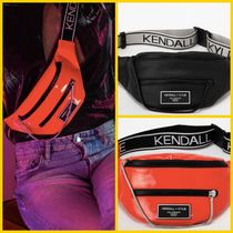 Kendall + Kylie Casual Style Unisex Street Style Plain Shoulder Bags