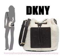 DKNY Casual Style Street Style 2WAY Plain Shoulder Bags