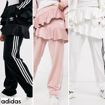 adidas Stripes Casual Style Unisex Sweat Street Style Plain Long