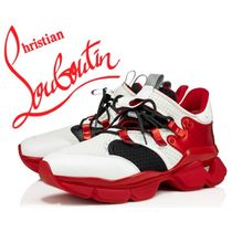 Christian Louboutin Red Runner Leather Logo Sneakers