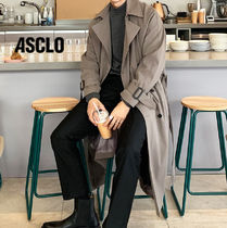 ASCLO Plain Oversized Trench Coats