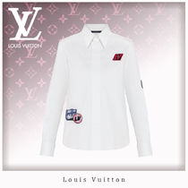 Louis Vuitton Casual Style Blended Fabrics Long Sleeves Plain Cotton