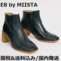 miista Square Toe Other Animal Patterns Leather Block Heels