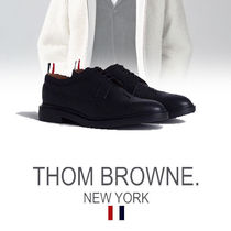 THOM BROWNE Street Style Plain Leather Oxfords