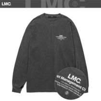 LMC Crew Neck Unisex Street Style Bi-color Long Sleeves Plain
