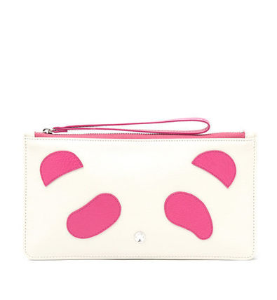 Leather Logo Pouches & Cosmetic Bags