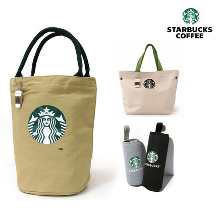 Casual Style Unisex Canvas Plain Totes