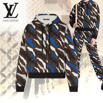 Louis Vuitton MONOGRAM Camouflage Monogram Long Sleeves Cotton Hoodies
