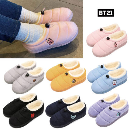 Casual Style Unisex Plain Slippers Slip-On Shoes