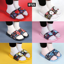 BT21 Casual Style Unisex Plain Slippers Slip-On Shoes