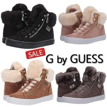 G BY GUESS Lace-up Casual Style Faux Fur Blended Fabrics Plain