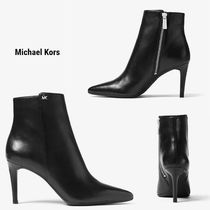 Michael Kors Casual Style Plain Leather Pin Heels Office Style