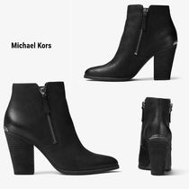 Michael Kors Casual Style Plain Leather Block Heels Office Style