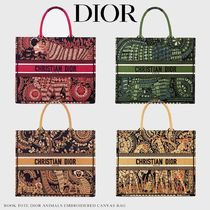 Christian Dior Casual Style Canvas Blended Fabrics A4 Other Animal Patterns