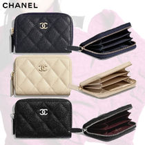 CHANEL Lambskin Coin Cases