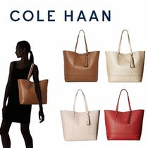 Cole Haan Plain Leather Office Style Elegant Style Totes