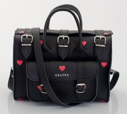 Heart Casual Style 2WAY Leather Party Style Office Style
