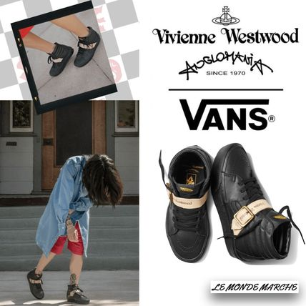Rubber Sole Casual Style Unisex Street Style Collaboration