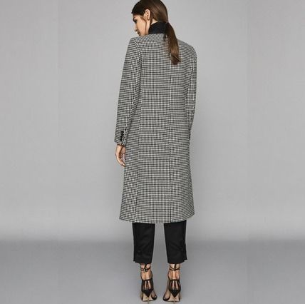 Zigzag Wool Long Office Style Chester Coats