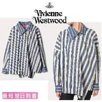 Vivienne Westwood Stripes Casual Style Long Sleeves Cotton Shirts & Blouses