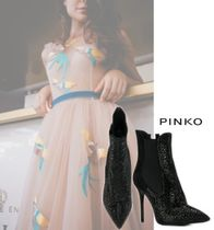 PINKO Casual Style Plain Leather Party Style PVC Clothing