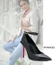 PINKO Casual Style Plain Leather Party Style Office Style
