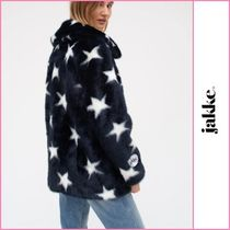 Jakke Short Star Faux Fur Street Style Plain Oversized Eco Fur