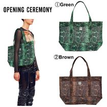 OPENING CEREMONY Casual Style Plain Other Animal Patterns Totes