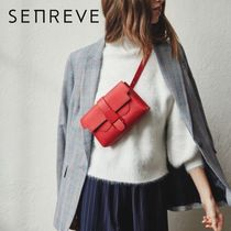 senreve Casual Style 3WAY Plain Leather Handmade Shoulder Bags