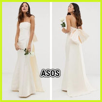 ASOS Blended Fabrics Plain Long Home Party Ideas Wedding Dresses