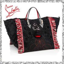 Christian Louboutin Casual Style Canvas Totes