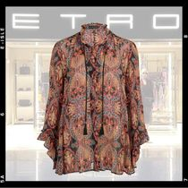 ETRO Paisley Silk Long Sleeves Cotton Medium Elegant Style